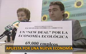 """LOS VERDES PROPONE UN """"NEW DEAL"""" POR LA ECONOMÍA ECOLÓGICA"""