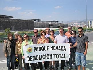 El Partido Verde Europeo pide en Granada la demolición total del centro comercial Nevada